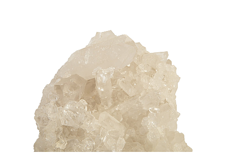 White Quartz Crystal Sculpture on Stand Assorted