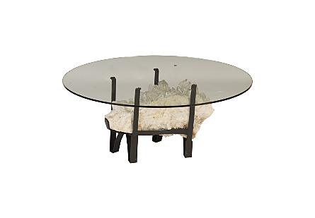 White Quartz Crystal Coffee Table