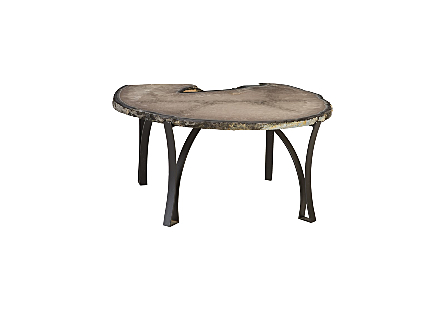 Agate Coffee Table Iron Base