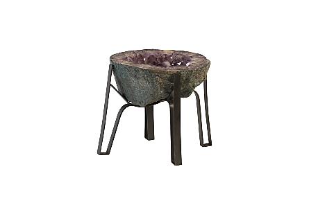 Amethyst Coffee Table Metal Base