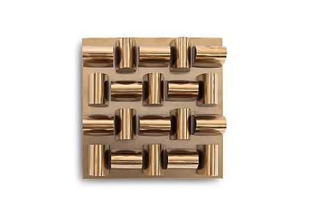 Arete Wall Tile Plated Brass Finish