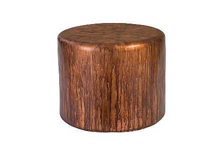 Button End Table Von Braun Finish