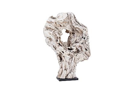 Bleached Teak Wood Sculpture