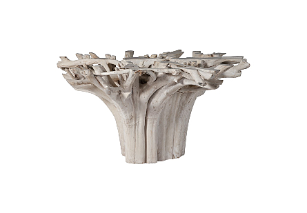 Teak Root Dining Table Base Bleached