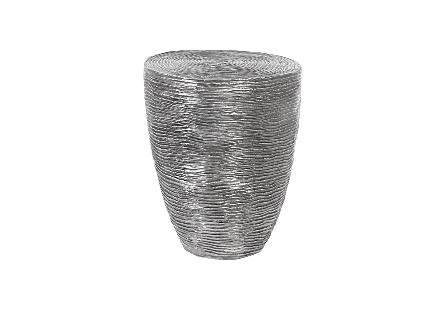 Ripple Side Table Black/Silver, Aluminum