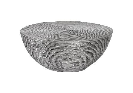 Ripple Coffee Table Black/Silver, Aluminum