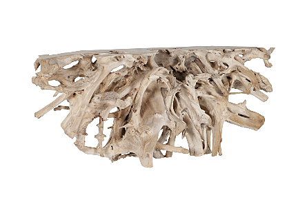 Teak Root Console Table Bleached