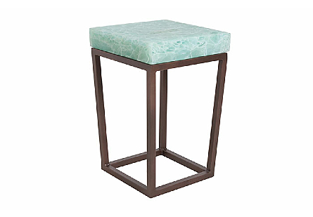 Folded Glass Side Table Square, LG