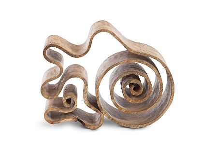 Curly Wood Sculpture Assorted Size, Shape, Style
