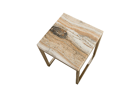 Onyx Side Table SS Base