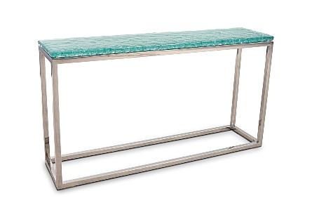 Bubble Glass Console Table