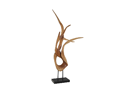 Mahoni Wood Sculpture Table Top, Size, Shape, Styles Vary