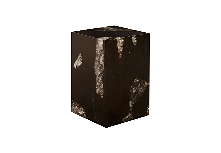 Glitz Stool Dark Wood/Resin