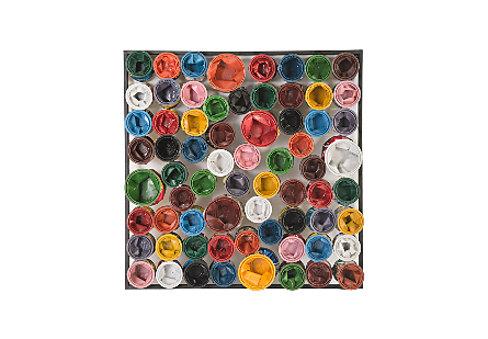 Paint Can Wall Art Square, Assorted Colors, LG