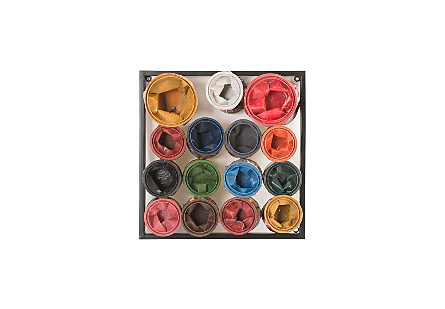 Paint Can Wall Art Square, Assorted Colors, SM