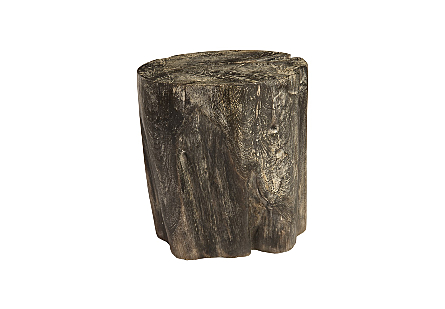 Black Wash Stool Round