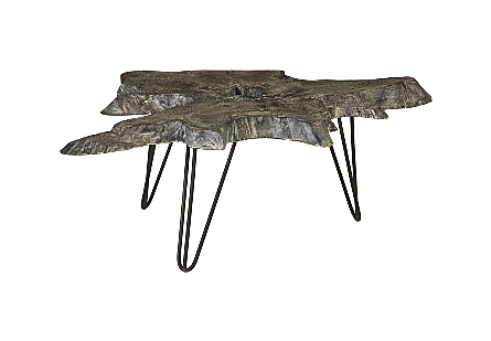 Teak Wood Coffee Table Black Wash