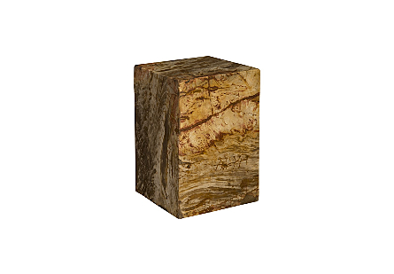 Petrified Wood Stool Square