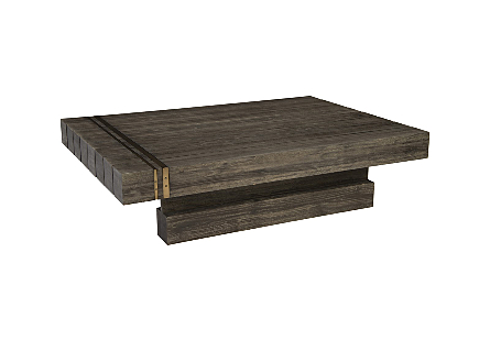RH Coffee Table Block Blackwood