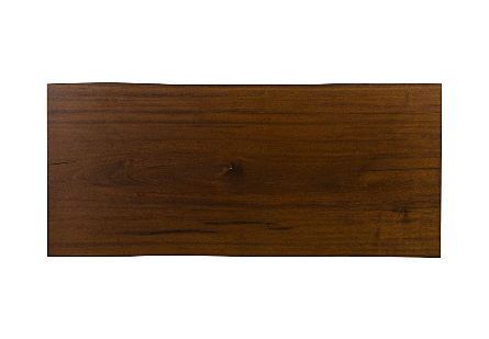 Live Edge Dining Table, Merbau Wood Stainless Steel Legs, Outdoor