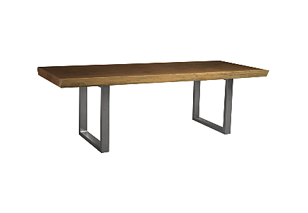 Live Edge Dining Table, Merbau Wood SS Legs, Outdoor
