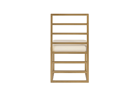 Ladder Dining Chair Natural/Brass Finish