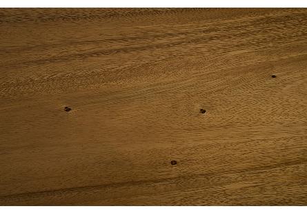 Ladder Side Table Suar Wood, Natural/Brass Finish