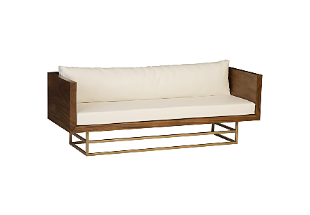Ladder Sofa Suar Wood, Natural/Brass Finish