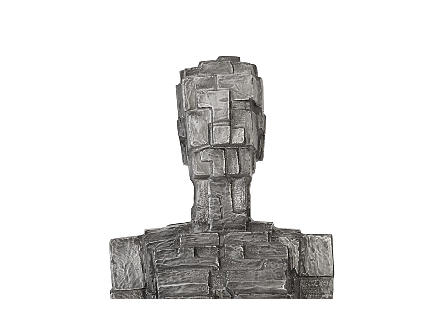 Puzzle Woman Sculpture Black/Silver, Aluminum