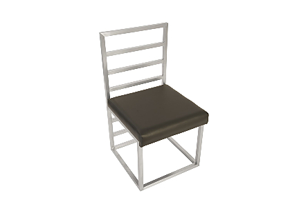 Ladder Dining Chair  Grey/Silver Finish