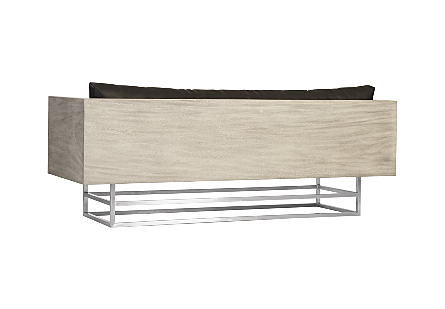 Ladder Sofa  Suar Wood, Grey/Silver Finish