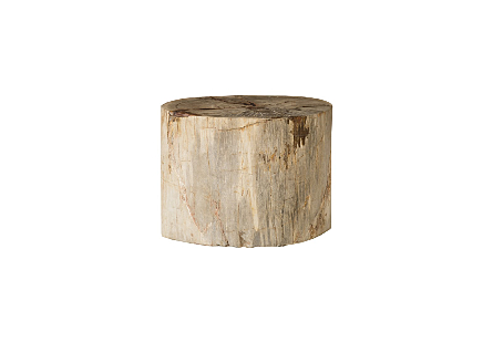 "Petrified Wood Stool, Polished, Cream, 20""- 24"" x 17""-19""h Assorted"