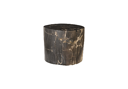 "Petrified Wood Stool, Polished, Mixed , 20""- 24"" x 17""-19""h  Assorted"