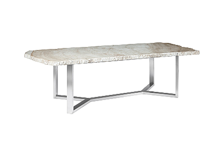 Onyx Dining Table Stainless Steel Base