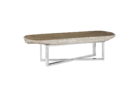 Onyx Coffee Table Stainless Steel Base