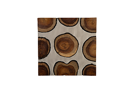 Molten Slice Wall Tile Sheesham Wood, Aluminum
