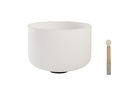 Singing Bowl Crystal Frosted, White