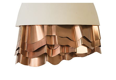 Ruffle Chandelier White/Copper