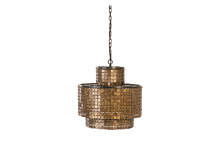 Armor Chandelier Brass