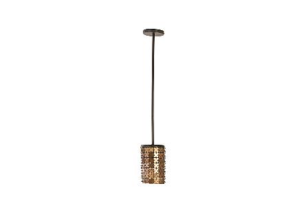 Armor Pendant Lamp Brass