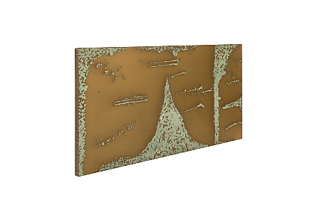 Abstract Copper Patina Wall Art LG