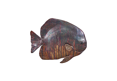 Australian Batfish Fish Wall Sculpture Copper Patina