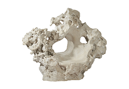 Colossal Cast Stone Sculpture with Seat Roman Stone