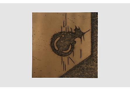 Abstract Copper Patina Wall Art Circle