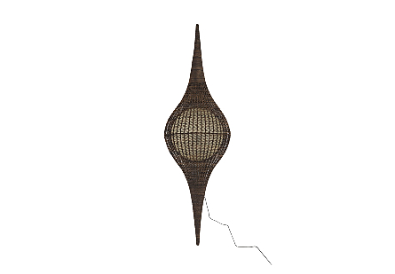 Propel Wall Art Rattan, Fiberglass, Brown
