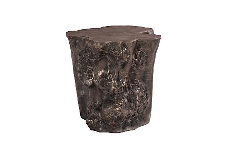 Log Side Table Bronze