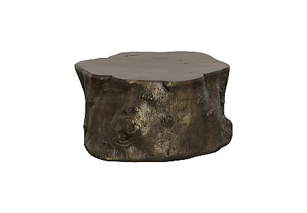 Log Coffee Table Bronze