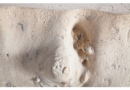 Log Stool Roman Stone, LG