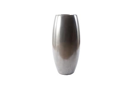 Elonga Planter Polished Aluminum, MD