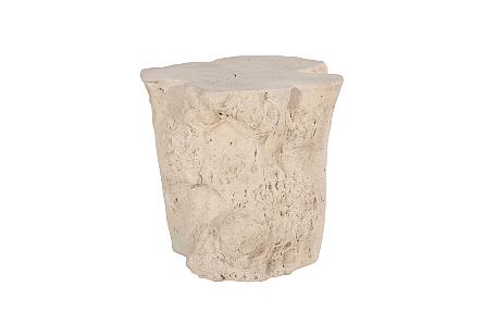 Log Side Table Roman Stone
